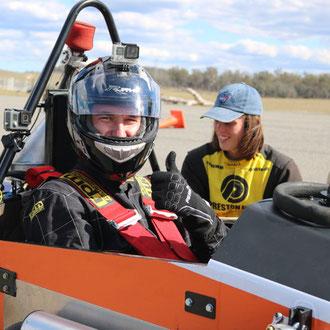 Lab tour of racing car workshop